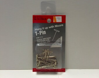 Moore No. 72 T-Pin 20 Count