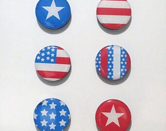 4th of July United States Flag Fridge Magnets / Refrigerator Magnets / Magnet Set / USA Magnets/gift set/ decorations