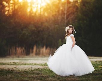 The Olivia Dress in White - Flower Girl Dress