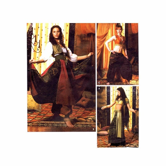 Simplicity 5359 Belly Dancer Harem Pants Gypsy Costumes Sewing ...