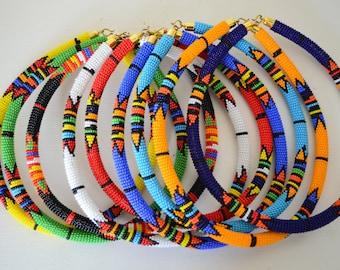 African Maasai Beaded Necklaces   African Zulu Beaded Necklace   African Jewelry   Tribal necklace   African beaded necklaces   Gift for Her