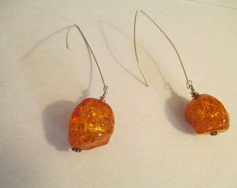 """Amber Earings:  """"Great Balls of Fire""""."""