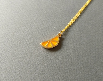 Tangerine. Necklace.