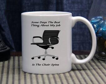 Novelty Coffee Mug - 11 ounce Ceramic Coffee Mug - Some Days - Office Humor - Work Place Humor