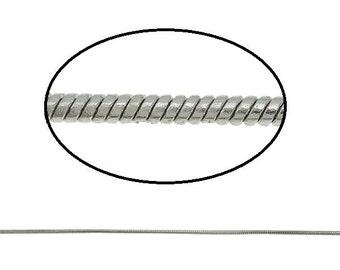5 feet 1.2mm platinum look lead nickel free snake chain-8116
