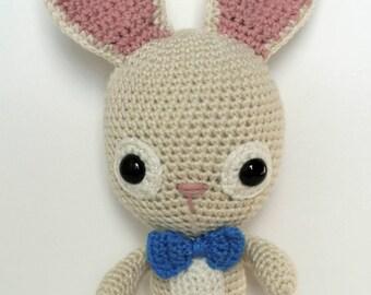 Boy Bunny with Bow Tie Amigurumi
