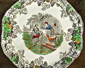 Lovely Antique Spode Copeland Byron Series Sandwich Plate Number One