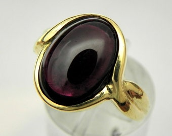 Rubellite Tourmaline   14x10mm  4.73 Carats   in 14K yellow gold Infinity ring  1903