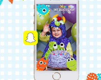 Snapchat GeoFilters, Birthday Snapchat Filters, Party Snapchat Filter, Monster Snapchat GeoFilter, Monsters Birthday Party, Halloween Filter