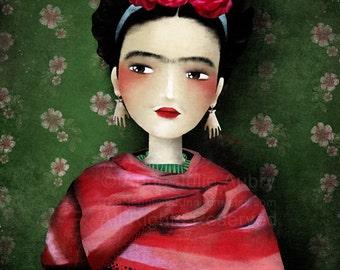 Frida - open edition print - Whimsical Art