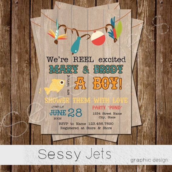 Nice Weu0027re REEL Excited Baby Shower Invitation Fishing Baby