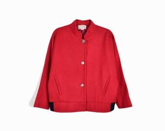 Vintage 80s Dolman Wool Jacket in Red / Vintage Valdecrafts Vermont - women's medium
