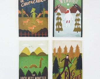 Discounted! Monster 4x6 print (blank back-side) 8pcs