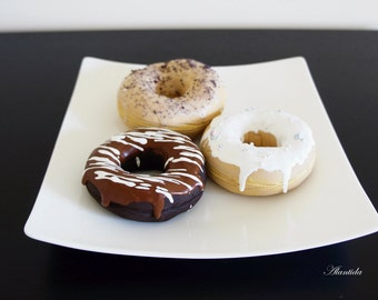 Handmade Fake Donuts,Faux Donuts,Kitchen Decor Display,Bakery Display