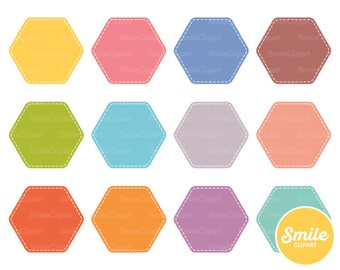 Stitched Honeycomb Clipart Illustration for Commercial Use | 0198