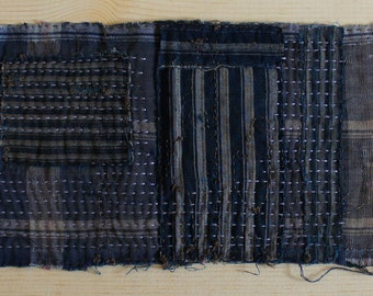 Boro-Inspired Sashiko Fabric #50-C | Authentic fabric hand-stitched to be Boro