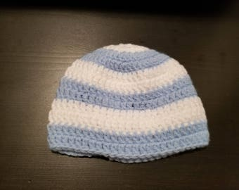 Striped baby beanie