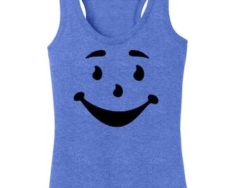 Kool Aid Man T-Shirt Women's Racerback Tanktop Graphic Funny