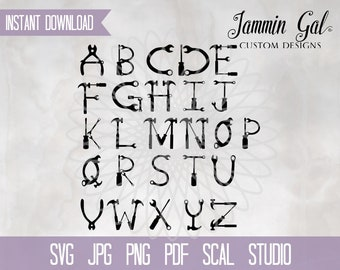 Tool Alphabet |  construction svg | tools svg | builder svg carpenter handyman svg gift for him, pdf, jpg, png, scal Cricut Silhouette print