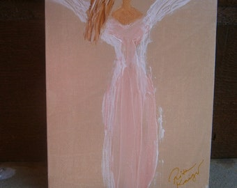 Spring Angel; Angel Ascending; One of a Kind; Acrylic; 5 x 7