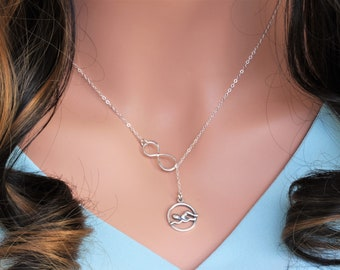 Swimmer Charm Necklace - swimming necklace in Sterling Silver - swimming gifts - Swimming gifts for girl - Swimming necklace -swim team gift