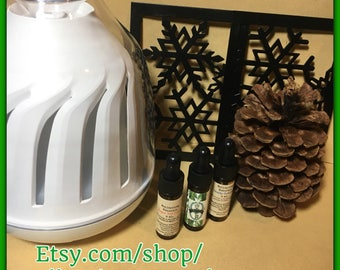 Holiday Essential Oil Diffuser Set - Christmas scents - Great Gift