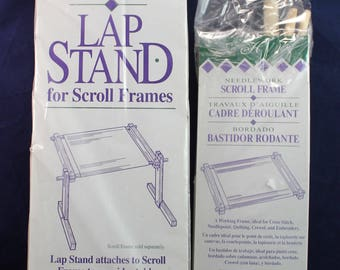 """Deluxe Hardwood Scroll Frame Floor Stand H400 and 4""""x8"""" Frame H48"""