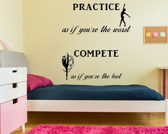 Gymnastics Wall Decal Christian Wall Quote Handmade Vinyl Wall Art Custom  Orders Custom Vinyl Decals Custom