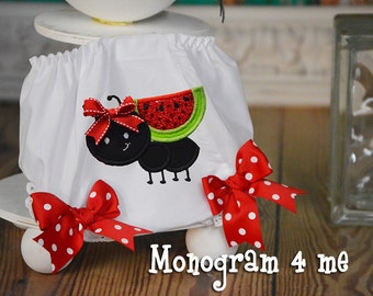 Watermelon 1st Birthday Bloomers, Picnic, Diaper Cover, panties, underwear