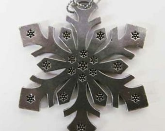Pewter ~ Snowflake A ~ Holiday Ornament ~ A230OR