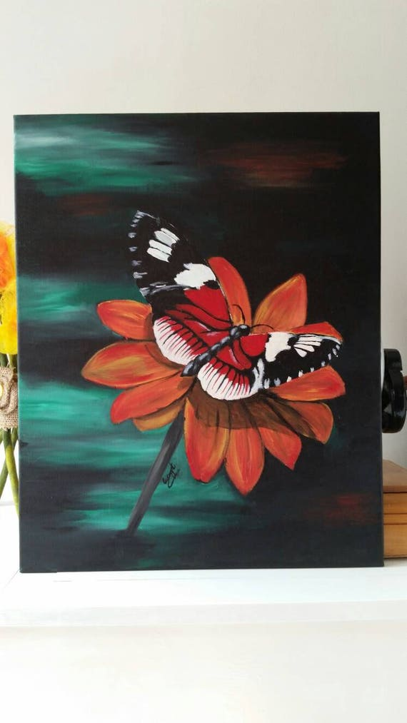 Schmetterlingsbild. Acryl auf Leinwand. Ohne Rahmen 40 x 495
