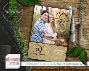 Printable Wedding Save the Date Announcement: Sage and Lace - Digital File Only