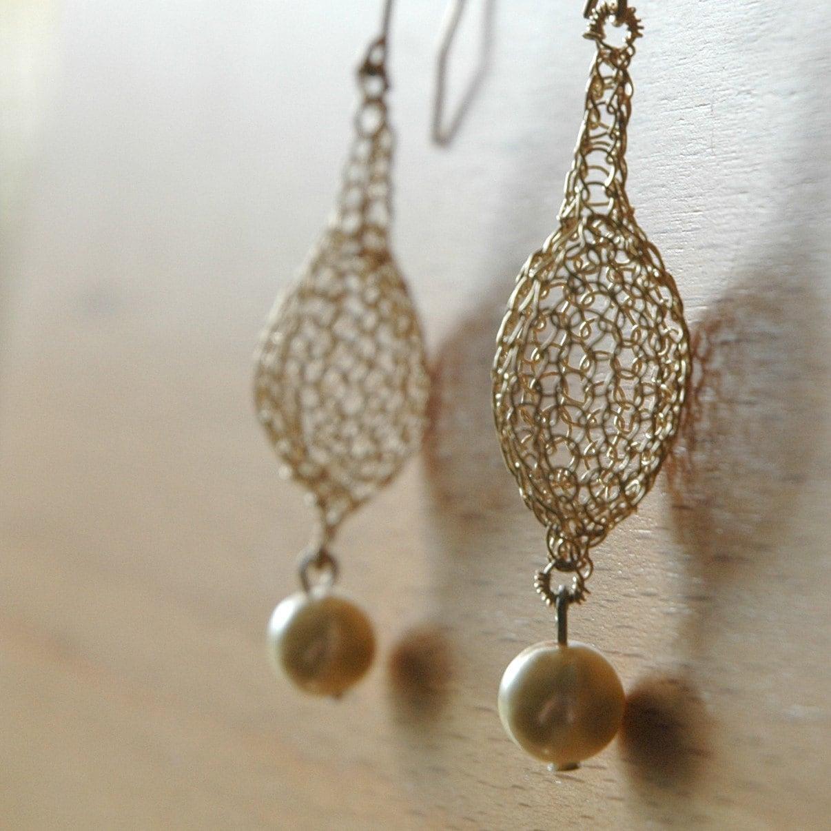 CROCHET jewelry PATTERN 3 Wire earrings PDF tutorials sunflower ...