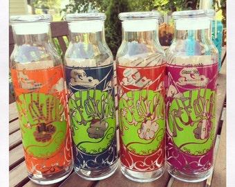 Reusable 22 oz. glass bottle with Greenville GYOR design