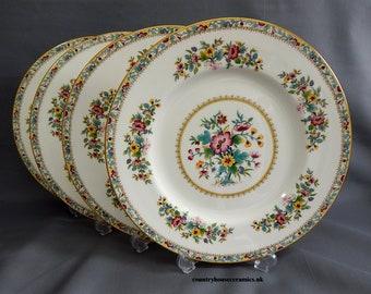 A Set of 4 Coalport, 'Ming Rose' Pattern, Dinner Plates