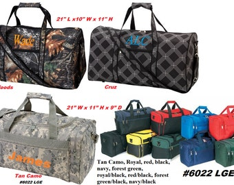 Personalized Duffle bags Perfect for Men & Boys camping, trips, overnight
