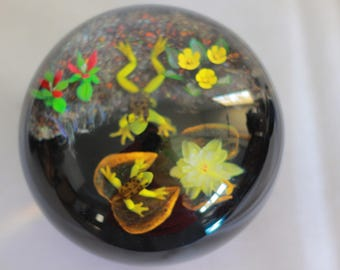 """Rick Ayotte """"Pond Life"""" Paperweight Signed & Numbered LE/25"""