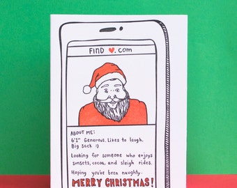 Santa Dating App Holiday Card
