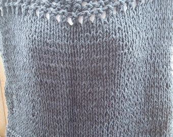 Knit Off the Shoulder Cotton Mesh Top