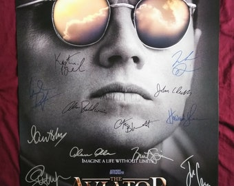 The Aviator Handsigned Poster by 14 Cast Members