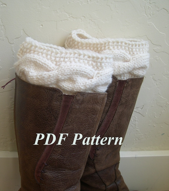 Cable Knit Boot Cuffs Pattern Boot Cuffs Tutorial Easy Knit And