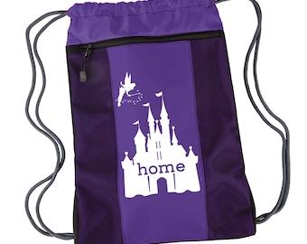 Disney Is My Home Nylon Cinch Backpack