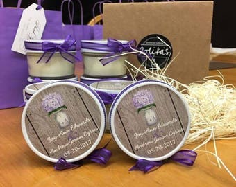 PERSONALIZED CANDLE FAVOURS/Starting at sets of 12/Wedding favours/Bridal Favours/Party favours