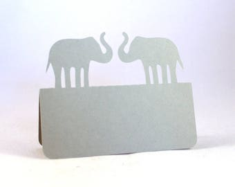 Elephants Place Cards, Wedding place cards, wedding escort cards, elephant wedding