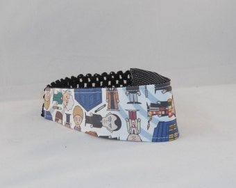 Headband Made with Dr. Who Inspired Fabric