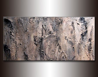 Abstract Painting, Original abstract Painting, Textured Abstract Painting, Gray Contemporary Art, Modern Abstract by Henry Parsinia