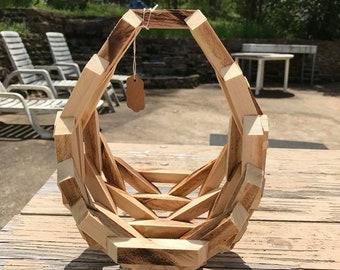 Wooden Oval Basket