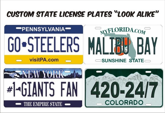 Like this item?  sc 1 st  Etsy & Custom Novelty front License Plate Any State vanity Decorative