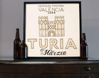 Beer Art - Craft Beer Art - Beer Painting - Turia Beer Art