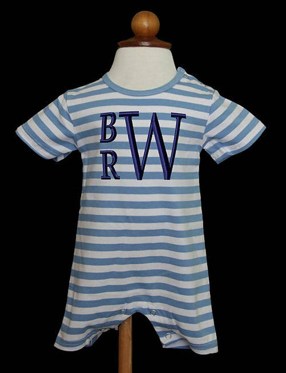 Romper For Boys Boy S Monogrammed Romper Boy S